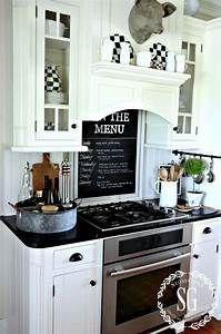 21 simply beautiful ways to use chalkboard paint on a With kitchen colors with white cabinets with wall art over bed