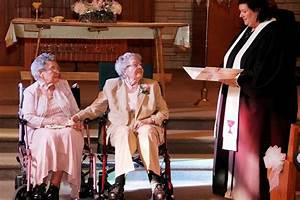 lesbian couple exchange wedding vows in their nineties With lesbian wedding ceremony readings
