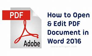 Open and edit pdf document in word 2016 wikigain for Pdf document how to open