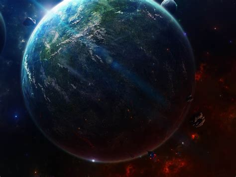 Earth From Space-universe Hd Wallpaper Preview