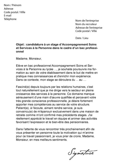cv second de cuisine lettre de motivation stage seconde assp document