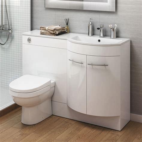 Modern Bathroom Gloss White Vanity Unit Countertop Basin