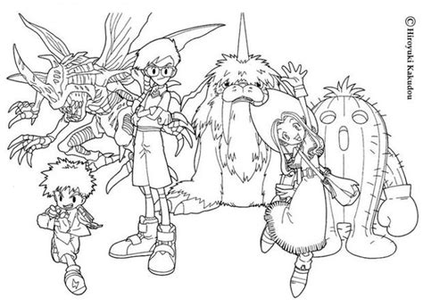 Digimon Heroes Coloring Pages