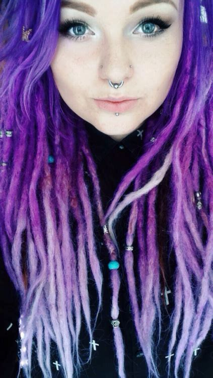 Pastel Purple Dreads Tumblr All Knotted Up Dreads In
