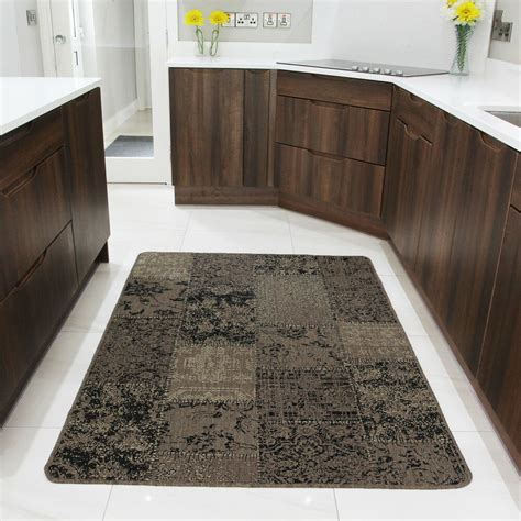 rugs and doormats small large beige modern rugs non slip rubber back kitchen