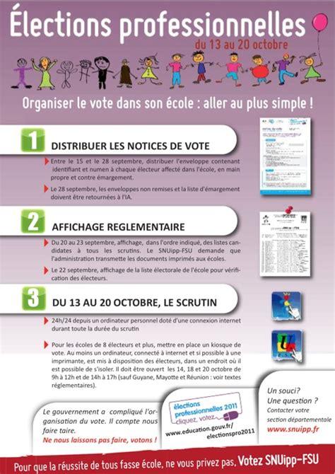 bureau de vote elections professionnelles 201 lections professionnelles organisation du vote dans les 233 coles snuipp fsu 03