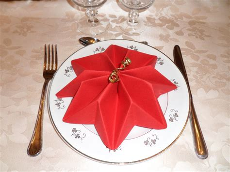 Serviette De Table Pliage Pour Noel
