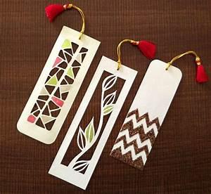 Pretty Paper Cutting Art DIY Bookmarks