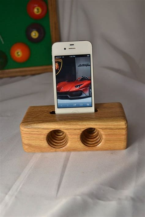 iphone acoustic speaker iphone woodne dock  wood