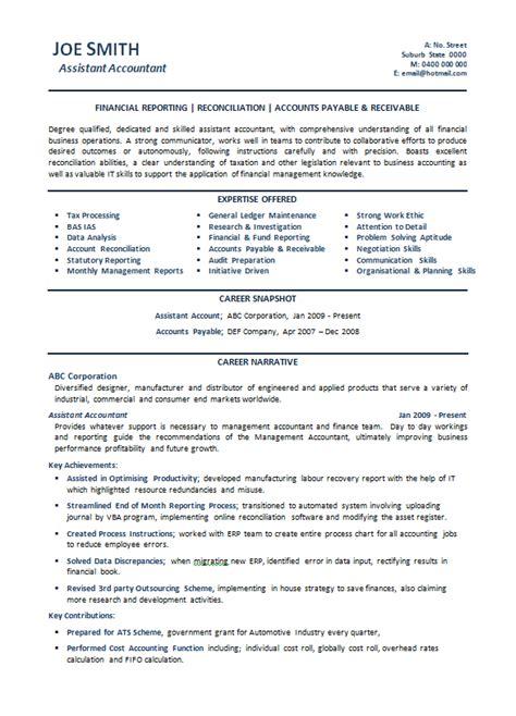 9 sle accounting resume self introduce management accountant resume sle 28 images sle