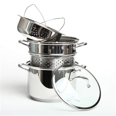 shop bodeux heavy duty  piece stainless steel  quart multicooker  shipping today