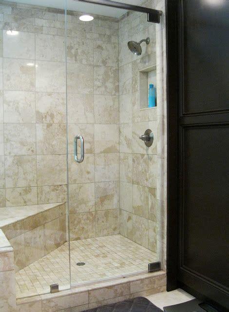 master bath shower simple travertine bench  built ins