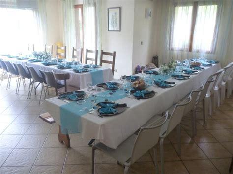 decoration table mariage bleu et blanc