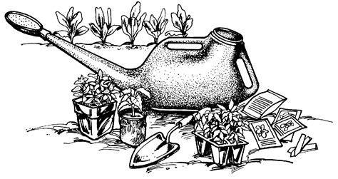 gardening clipart black and white garden tools clipart clipart suggest