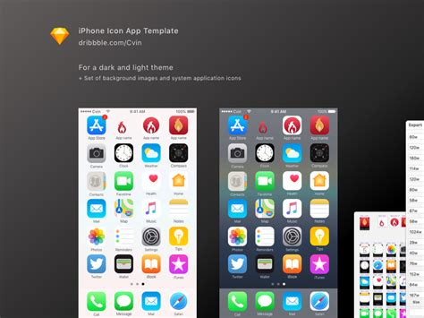 icon iphone template app dribbble