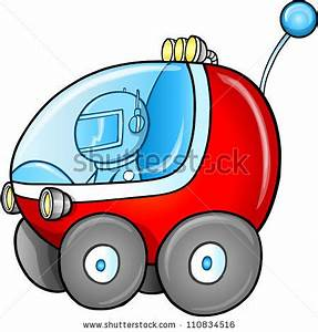 Cute Outer Space Moon Buggy Car Stock Vector 110834516 ...