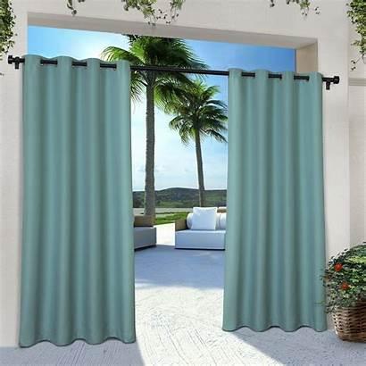 Grommet Exclusive Solid Curtain Cabana Indoor Panel