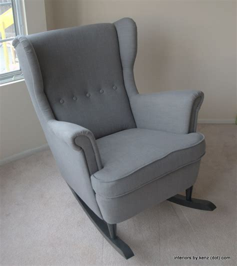 Ikea Glider Chair Hack by Ikea Hack Strandmon Rocker Diy Wingback Rocking Chair