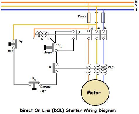 direct   dol starter wiring diagram eee community