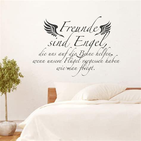 wandtattoo spruch freunde sind engel