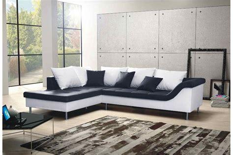canapé noir et blanc design canapé d 39 angle design elvis convertible noir et blanc