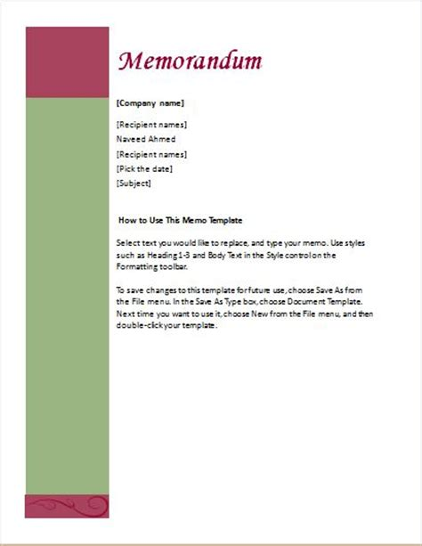 editable memo templates  ms word word excel