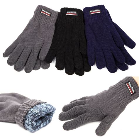 unisex insulated gloves knit winter gloves thermal