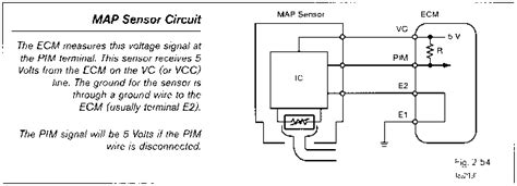 Manifold Absolute Pressure Map Sensor Toyota Engine