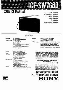 Sony Icf-sw7600 Service Manual