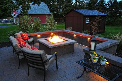 outdoor patio with pit ideas landscaping