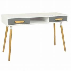 Console Scandinave Pas Cher : meuble bureau et ordinateur pas cher ~ Teatrodelosmanantiales.com Idées de Décoration