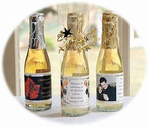 personalized mini wine bottle favors With personalized mini wine bottles for wedding favors