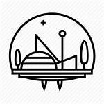 Icon Futuristic Scifi Dome Sci Fi Logos