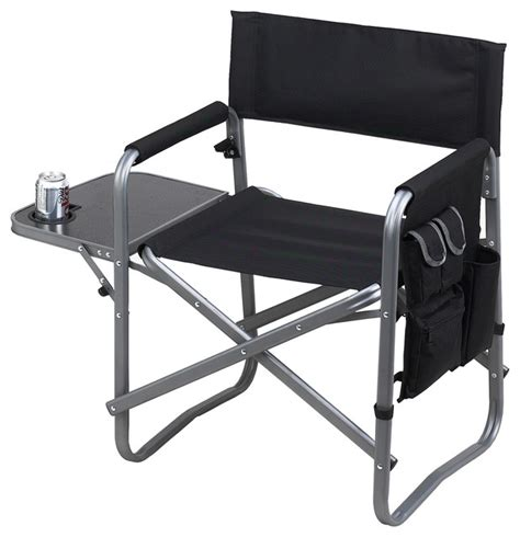 Folding Directors Chair With Side Table by Director S Chair With Side Table Black Contemporary