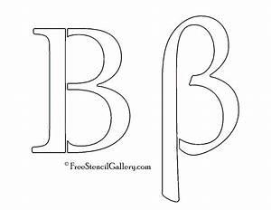 greek letter beta free stencil gallery With greek letter cutouts