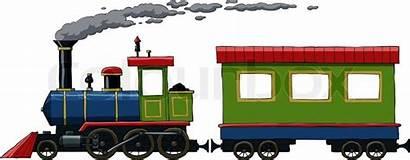 Locomotive Vector Train Cartoon Clipart Trains Wagon