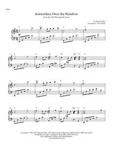 Somewhere Over the Rainbow Piano Sheet Music Preview