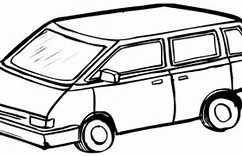 HD Wallpapers Coloring Page Van
