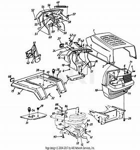 Mtd 146s820h118  548602   1996  Parts Diagram For Hood