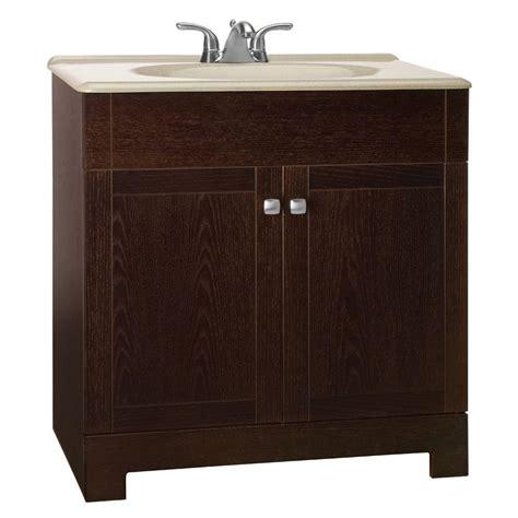 Glacier Bay Bathroom Vanity With Top by Glacier Bay Renditions 31 In W Vanity In Java Oak With