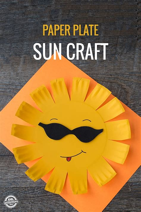 paper plate sun craft kids activities