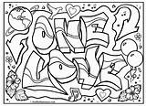 Coloring Graffiti Pages Adults Printable Comments sketch template