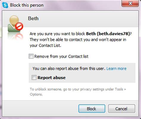 t harger skype bureau comment bloquer ou un contact ou signaler un abus dans