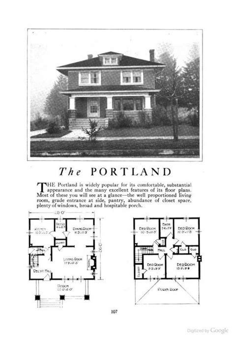Permalink to American Foursquare House Plans