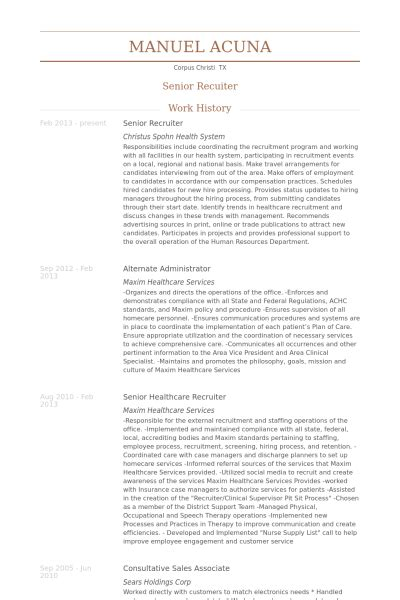 Senior Recruiter Resume Samples  Visualcv Resume Samples. Resume Examples For Pharmacists. Entry Level Resume Example. Top Resume Builder. Resume For Server Administrator. Product Design Resume. Best Resume Format Download Doc. Templates Of Resumes And Cover Letters. Resume Sample For Administrative Position