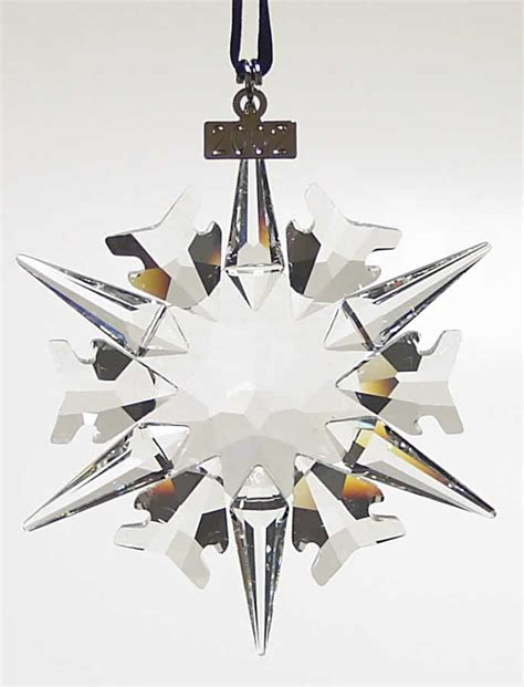 swarovski crystal christmas snowflake ornament 2002 ebay