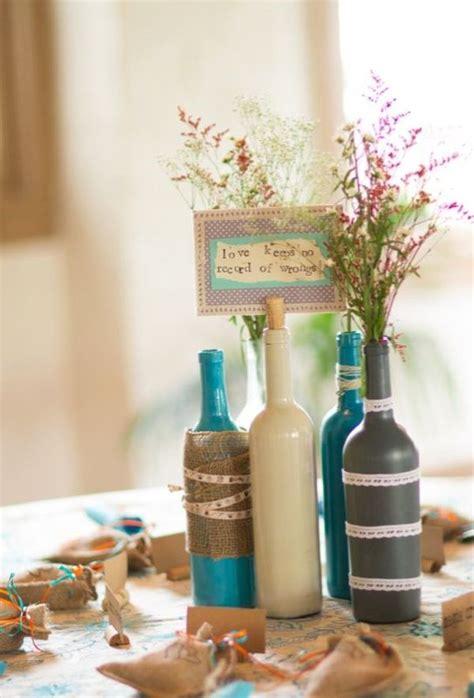 24 dazzling diy wine bottle centerpieces ideas