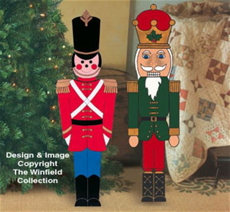 christmas small toy soldier  nutcracker wood pattern