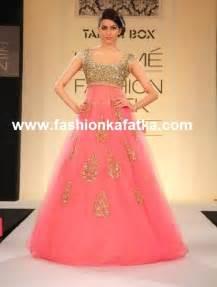 designer gown sparkling pink designer gown at lakme fashion week