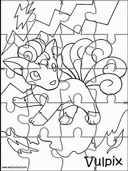 Pokemon Cut Printable Puzzles Jigsaw Coloring Pages
